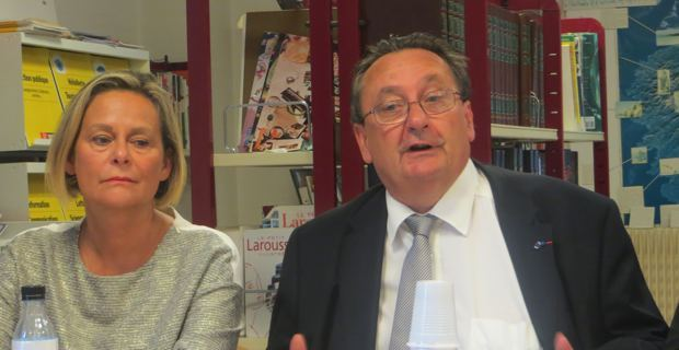 Catherine Mercier-Benhamou, inspectrice d'académie – directrice académique de Haute-Corse, et Michel Barat, recteur de l'Académie de Corse.