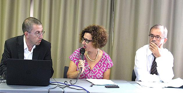 Gilles Noton, président de Qualitair Corse, Maria Guidicelli, conseillère exécutive et présidente de l'AAUC et Patrice Barruol, directeur régional de la Dreal