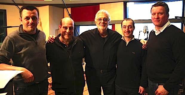 Maxime Merlandi, Jean-Philippe Guissani, Placido Domingo, Jean Pierre Marchetti et André Dominici.
