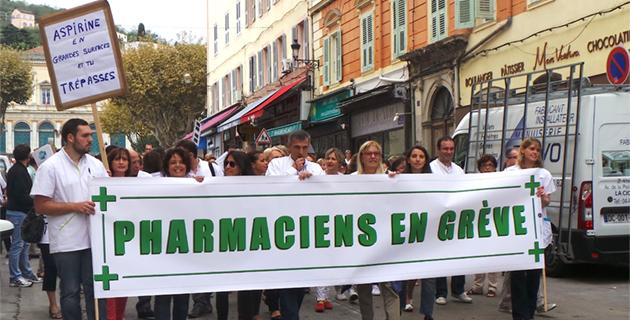 Bastia : Les pharmaciens de Haute-Corse dans la rue