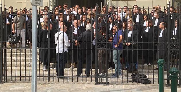 Les avocats du barreau d'Ajaccio feront la grève des audiences jusqu'à jeudi en signe de protestation