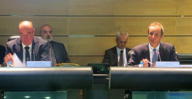 Joseph Castelli, président du Conseil général et sénateur de Haute-Corse, et le préfet, Alain Rousseau.