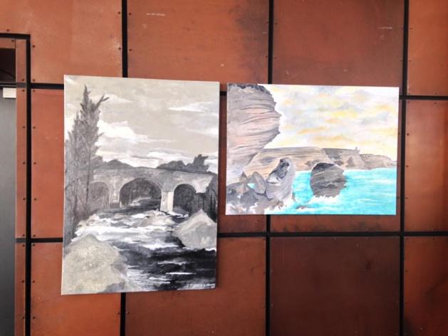 L'expo d'Adrien Martinetti à Ajaccio : La peinture et l'écriture lui ont tendu la perche !