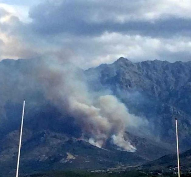 Important incendie à Calenzana