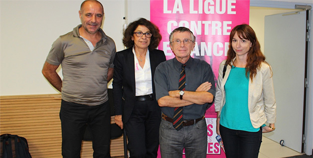 Didier Grassi, Florence Santini-Gomez, François Eisinger et Leslie Pellegri