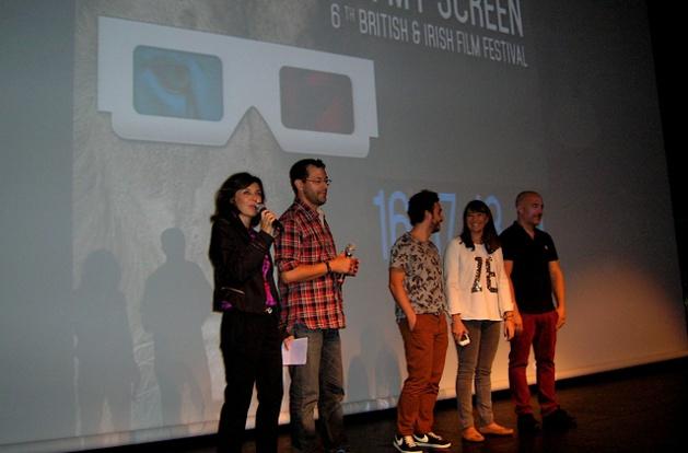 La joyeuse équipe d'Under My Screen a lancé la 6è édition du festival jeudi soir au Palais des Congrès d'Ajaccio. (Photo : Yannis-Christophe Garcia)