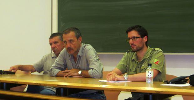 François Sargentini, Jean-Guy Talamoni et Petr'Anto Tomasi, membres de l'Exécutif de Corsica Libera.