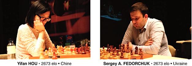 La championne du monde chinoise  en finale du 18e Corsica Masters