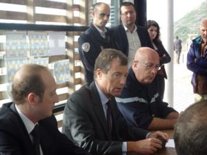 Le préfet de Corse et le député-maire d'Ajaccio se sont rendus à La Parata