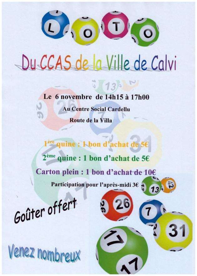 Le programme d'animations au CCAS de Calvi