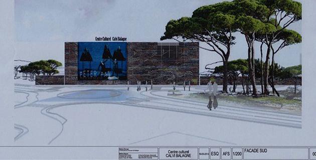 Un centre culturel Calvi-Balagne avec un théâtre et une salle de cinéma pour 2017