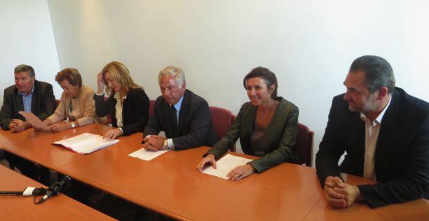 Les conseillers territoriaux du groupe Rassembler pour la Corse.
