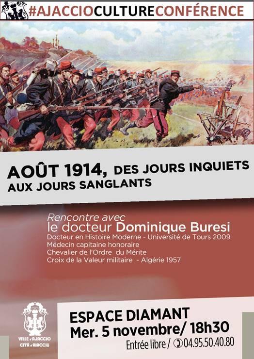 Dominique Buresi et la Grande guerre : Conférence à l'Espace Diamant