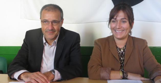 Jean-Guy Talamoni et Josepha Giacometti, conseillers territoriaux du groupe Corsica Libera.