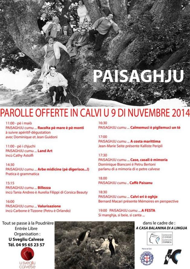 Début des journées « Parolle offerte » le  9 novembre à Calvi
