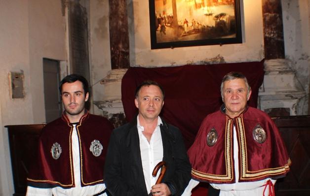 """Stéphane Javier-Stromboni (au centre) : """"Un hommage à Bastia"""""""