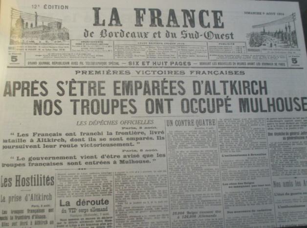La Corse commémore le centenaire de la déclaration de la Grande Guerre