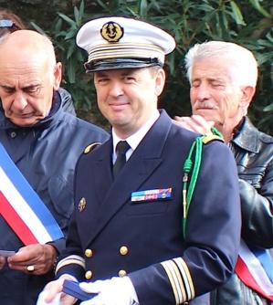 Le 11-Novembre à Santa-Maria di Lota avec une délégation du Charles-de-Gaulle