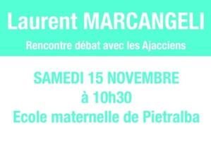 Ajaccio : Laurent Marcangeli en tournée