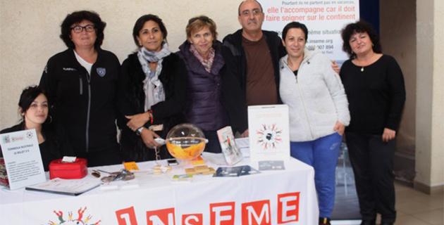 Les commerçants et artisans de L'Ile-Rousse avec Inseme Balagne