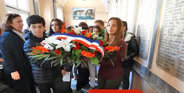 Bastia : L'hommage des collégiens de Simon-Vinciguerra aux élèves et professeurs morts en 14-18