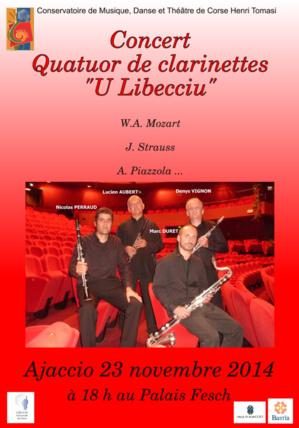 « U Libecciu» Quatuor de clarinette Musée Fesch le 23 novembre