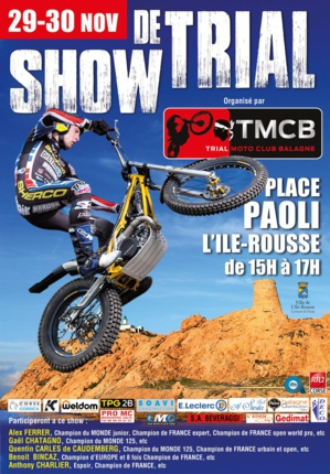 Show de trial gratuit les 29 et 30 novembre à L'Ile-Rousse