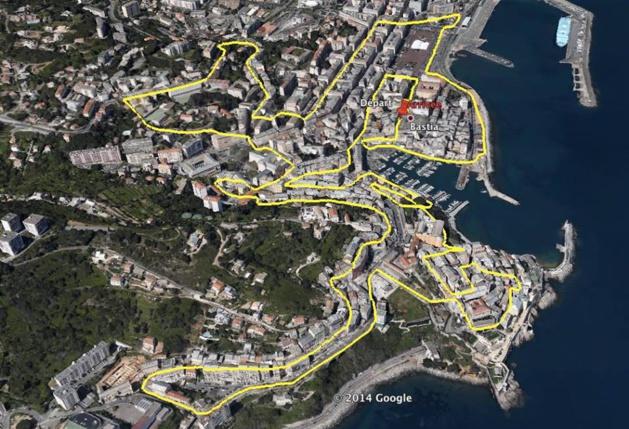 … parcours de la course de 8 km