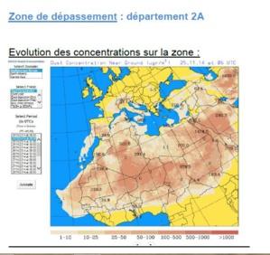 Les niveaux de pollution en particules fines ont été dépassés en Corse-du-Sud