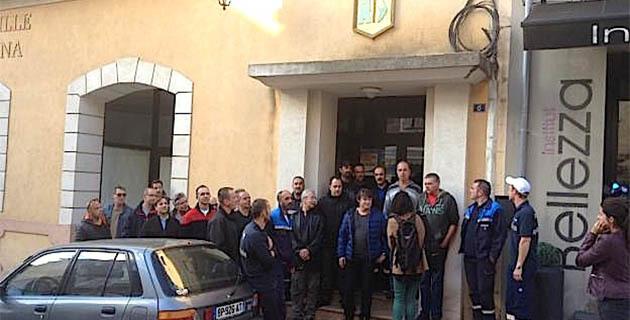 SNCM : Les marins rendent visite à Paul-Marie Bartoli à Propriano