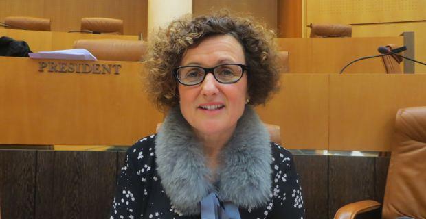 Maria Guidicelli, conseillère exécutive en charge des questions foncières et du PADDUC (Plan d'aménagement et de développement durable de la Corse), présidente de l'agence d'aménagement, de planification et d'urbanisme de la Corse.