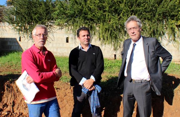De gauche à droite : Philippe Chapon, Franck Leandri et François Souq