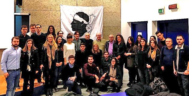 Guardia corsa papale à Rome avec étudiants et enseignants de l'université de Corse
