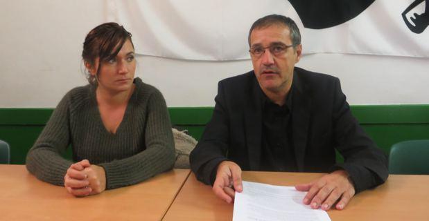 Josepha Giacometti et Jean-Guy Talamoni, conseillers territoriaux du groupe Corsica Libera.