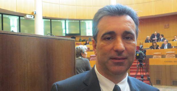 Antoine Orsini, président du groupe Corse Social Démocrate, président de la Commission des finances de l'Assemblée de Corse, rapporteur du projet de réforme fiscale.