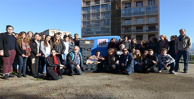 Collège Laetitia : 200 kg de denrées alimentaires au profit des restos du cœur