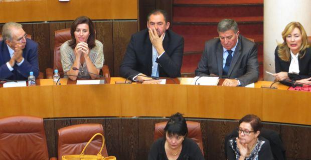 Des élus du groupe « Rassembler pour la Corse » sur les bancs de l'Assemblée de Corse.