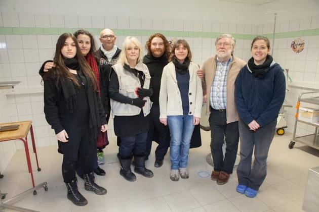 Mylène Demongeot, Ariakina Ettori, Aude et Chrsitian Huchédé-photo Laurent  Christophe