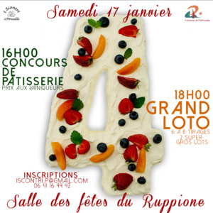 Concours de pâtisserie et grand loto au Ruppione
