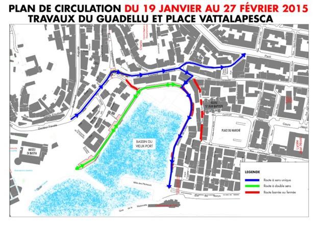 Bastia : Travaux au Guadellu et place Vattalapesca