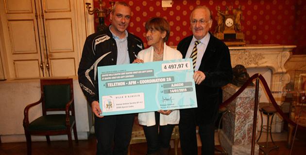 La ville d'Ajaccio remet près de 4 500 euros au Téléthon