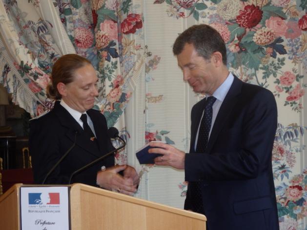 Départ de Nadège Marc, chef de la délégation des CRS en Corse
