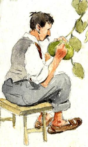 l'autoportrait éalisés par l'Autrichien Julius Hammer