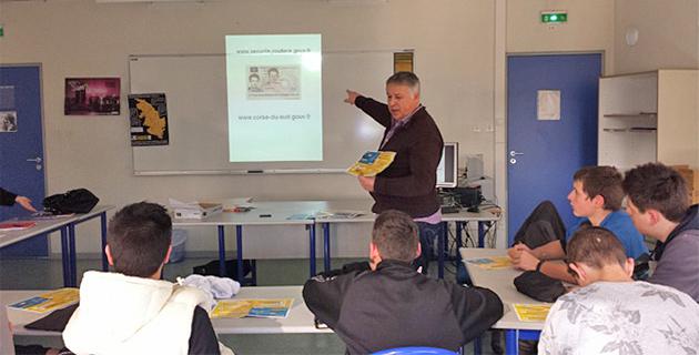 Ajaccio : La sécurité routière en action au lycée Jules-Antonini