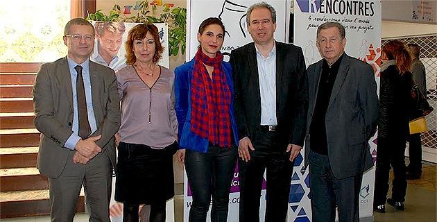 Michel Castelli, Dominique Gatti, Serena Battestini, Jean Zuccarelli et Paul Trojani : Pôle Emploi, la municipalité de Bastia, la CAB, l'ADEC et la CCI de Haute-Corse unis pour gagner la bataille de l'emploi