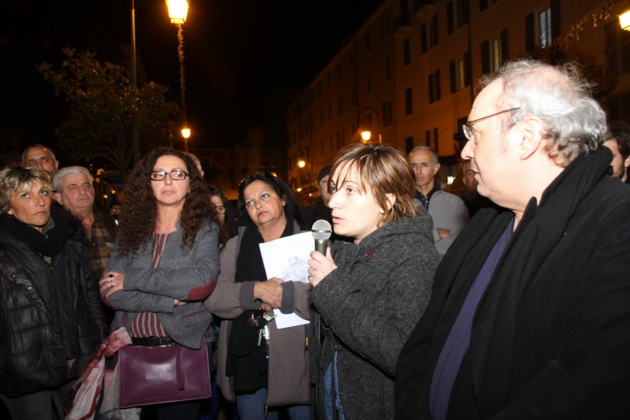 Soutien à Pierre Paoli devant la préfecture d'Ajaccio