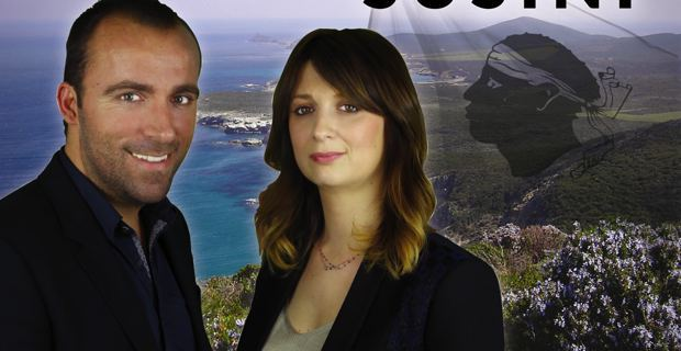 Sébastien Quenot et Paula Susini, candidats de Corsica Libera dans le Canton du Cap Corse pour les élections départementales des 22 et 29 mars prochain.