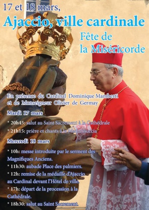 Ajaccio célèbre Notre Dame de la Miséricorde en présence du cardinal Mamberti