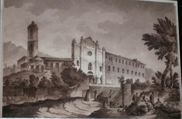 Le couvent Saint François de Bastia, dessin provenant de la collection privée de Sir Elliot, vice-roi Anglais de la Corse (1794-1796)
