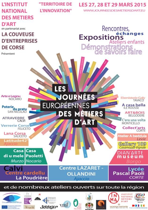 Les journées européennes des métiers d'art du 27 au 29 mars coordonnées par la la couveuse d'entreprises de Corse